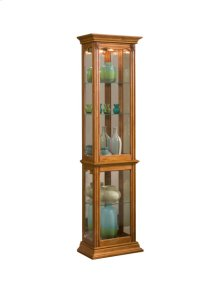 Gallery Style 4 Shelf Curio Cabinet in Golden Oak Brown