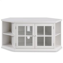 """Cottage White 56"""" Corner TV Console with Bookcase/Display #85387"""