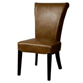 Bentley BONDED Leather Chair, Molasses