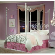 3/3 Silver Canopy Bed