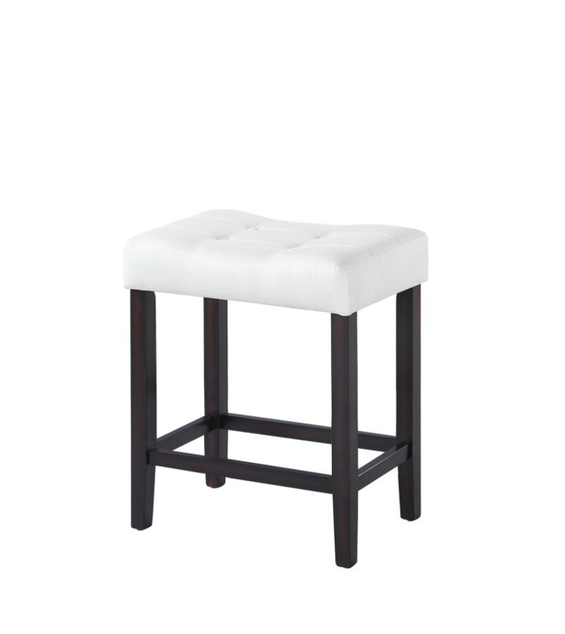 Casual White Upholstered Counter Height Stool
