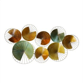 Multi Gold/green Metal Wall Decor, Wb