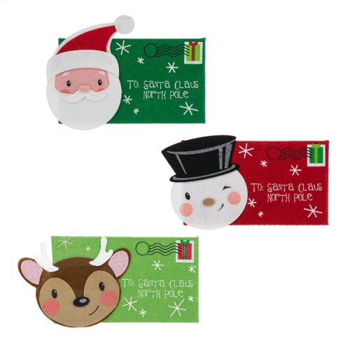 Letter to Santa, Reindeer, & Snowman in Envelope Pouch. (18 pc. ppk.)