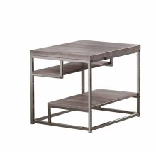 Modern Dark Grey End Table