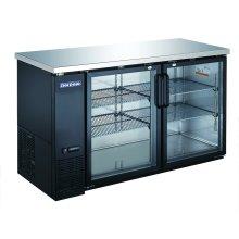 "2 Glass Door 60"" Back Bar Refrigerator"