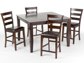 Kona Dining Set includes Table and 4 pub height stools