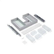 """Slim Drawer Insert 22-3/16"""" X 3-3/4"""" X 15-3/8"""" Plumbing Drawer for Use In 24"""" W X 15"""" H Profiles, Cartesian, Curated Cartesian and Balletto 30"""" W X 15"""" H Vanities (not for Use With Undercounter Sink Installations. Can Be Used In Above-counter Vessel Installations.)"""
