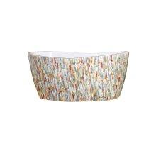 MOSAIK free-standing hand-painted bathtub