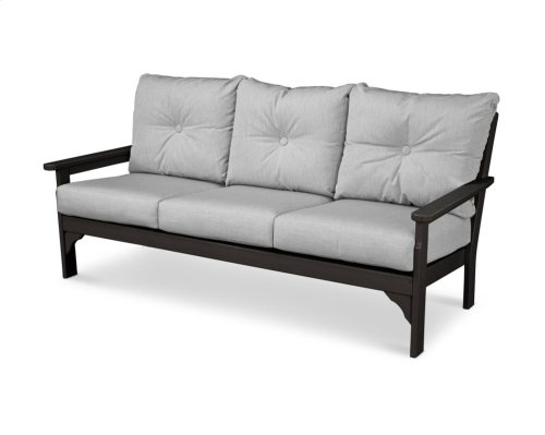 Black & Canvas Granite Vineyard Deep Seating Sofa