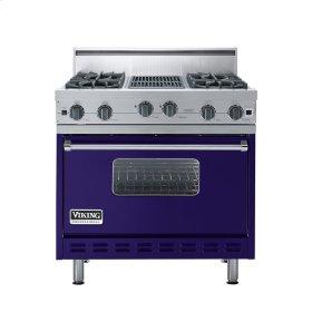 """Cobalt Blue 36"""" Open Burner Range - VGIC (36"""" wide, four burners 12"""" wide char-grill)"""