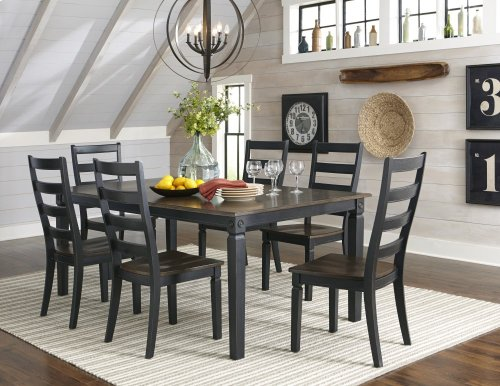 Dining - Glennwood Side Chair  Black & Charcoal