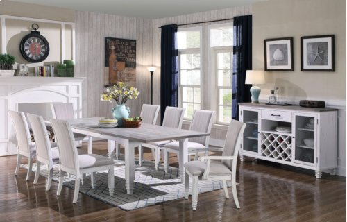 Emerald Home D719-10 Centerville Dining Table, Antique White