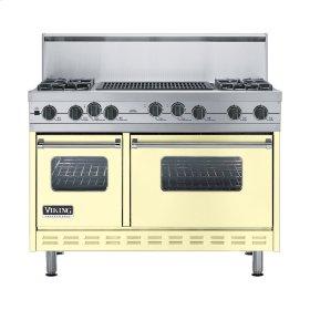 """Lemonade 48"""" Sealed Burner Self-Cleaning Range - VGSC (48"""" wide, four burners & 24"""" wide char-grill)"""