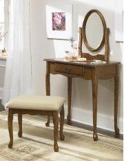 Woodland Oak Vanity, Mirror & Bench Product Image