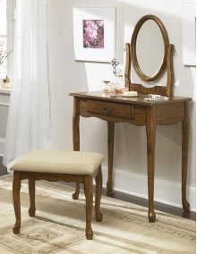 Woodland Oak Vanity, Mirror & Bench
