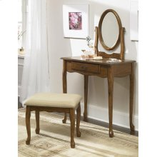 Woodland Oak Vanity, Mirror & Bench