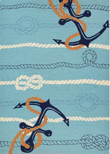 4295/4179 Anchorbend / Ocean Blue Area Rugs