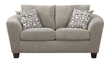 Loveseat Bone W/2 Accent Pillows