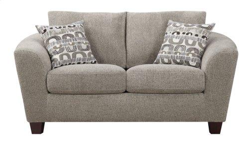Loveseat Bone W/2 Accent Pillows