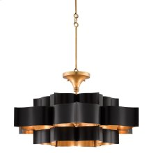 Grand Lotus Black Large Chandelier