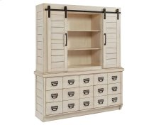 Antique White Archive Hutch and Buffet