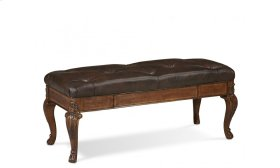 Old World Storage Bench Leather