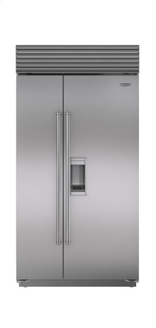 """42"""" Built-In Side-by-Side Refrigerator/Freezer with Dispenser***FLOOR MODEL CLOSEOUT PRICING***"""