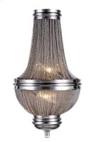 1210 Paloma Collection Wall Sconce W:9.5in H:16.5in Ext: 4.5in Lt:2 Pewter Finish Product Image
