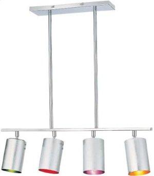4-lite Ceiling Lamp, Chrome/multi Type B 40wx4