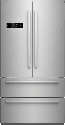 800 Series 21 cu ft Capacity Counter-Depth, 4-Door French Door Refrigerator - Stainless Steel