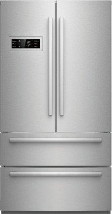 800 Series 21 cu ft Capacity Counter-Depth, 4-Door French Door Refrigerator - Stainless Steel