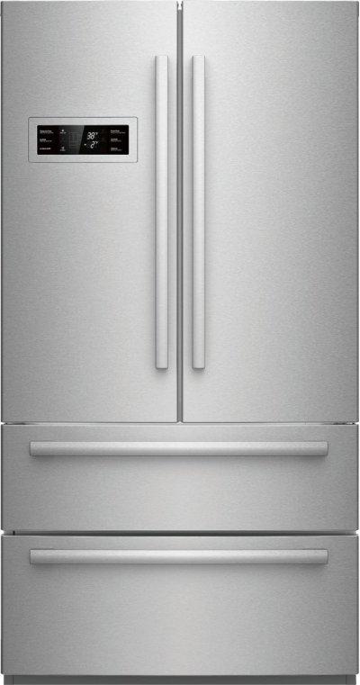 800 Series 21 cu ft Capacity Counter-Depth, 4-Door French Door Refrigerator - Stainless Steel Product Image
