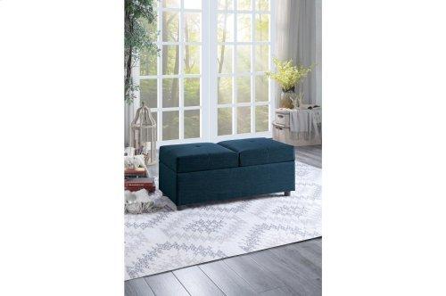 Storage Ottoman/ Chair, Blue
