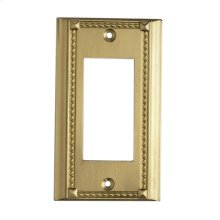 CLICKPLATES BRASS SINGLE SWITCH PLATE