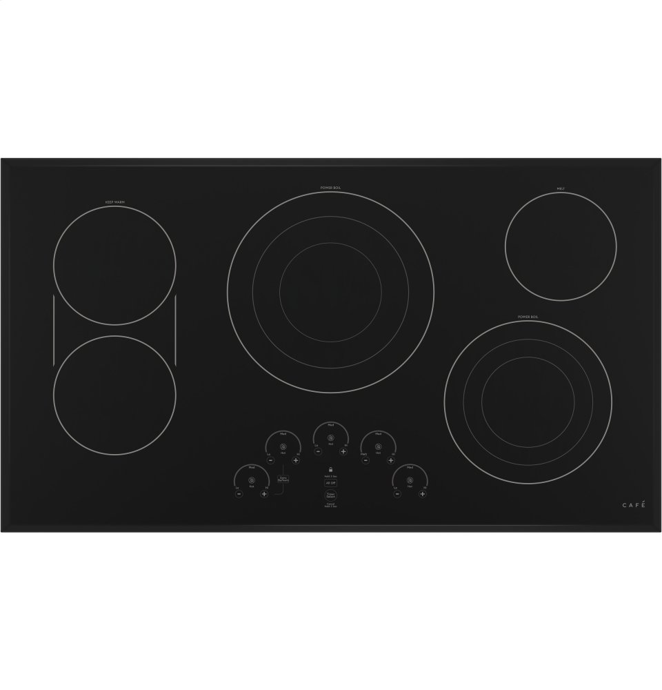 """Cafe Appliances36"""" Touch Control Electric Cooktop"""