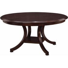 60 Diameter Parquet Top Exeter Round Dining Table