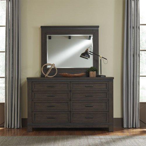 King California Bookcase Bed, Dresser & Mirror, N/S