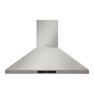 Thor Kitchen36in Wall Mount Chimney Range Hood In Stainless Steel With Led Lights, Touch Control With Display And Remote Control
