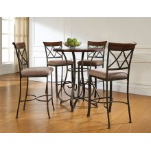 5-Pc. Hamilton Pub Table Set with 4 Bar Stools - (1) 697-404 + (4) 697-432