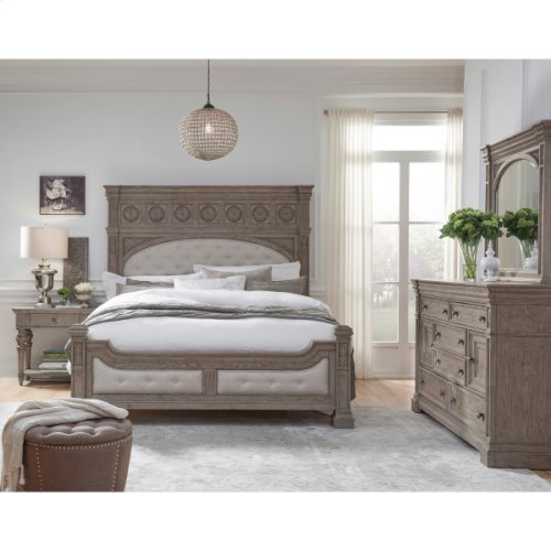 Kingsbury 1 Drawer USB Charging Open Nightstand