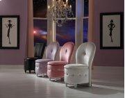 Pink Velvet Storage Stool Product Image