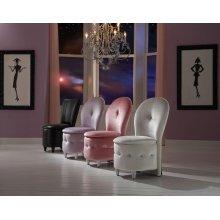 Pink Velvet Storage Stool