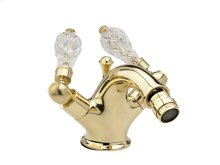 Single Hole Bidet Cut Crystal - Polished Brass