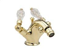 Single Hole Bidet Cut Crystal - Polished Brass