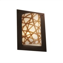 Framed Rectangle 4-Sided Wall Sconce (ADA)