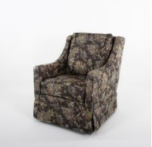 Skirted swivel glider
