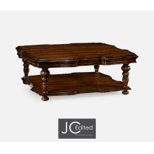 Square Rustic Walnut Coffee Table