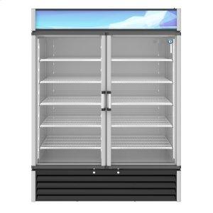 HoshizakiRM-49-HC, Refrigerator, Two Section Glass Door Merchandiser