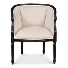 Pull Up Chair,Nero,Linen Flax