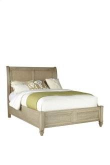 5/0 Queen Panel Bed - Flax Finish